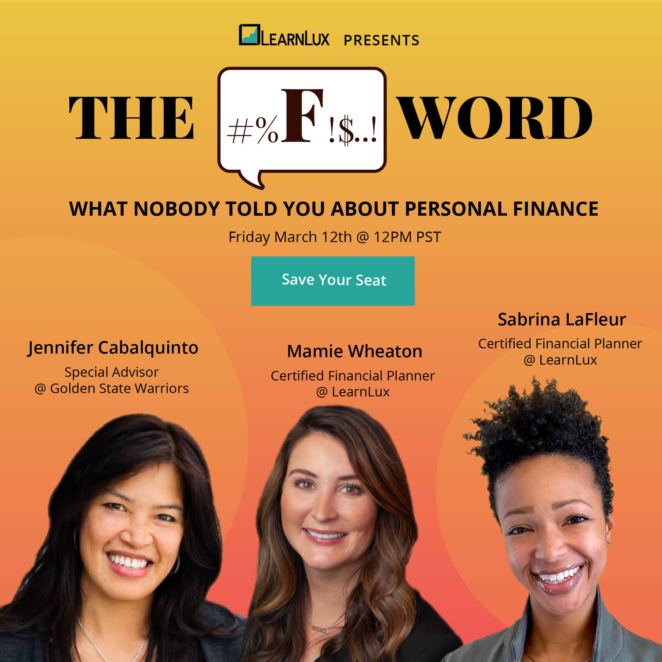 The F Word flyer