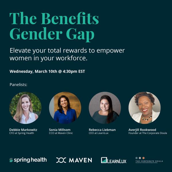 The Benefits Gender Gap event flyer