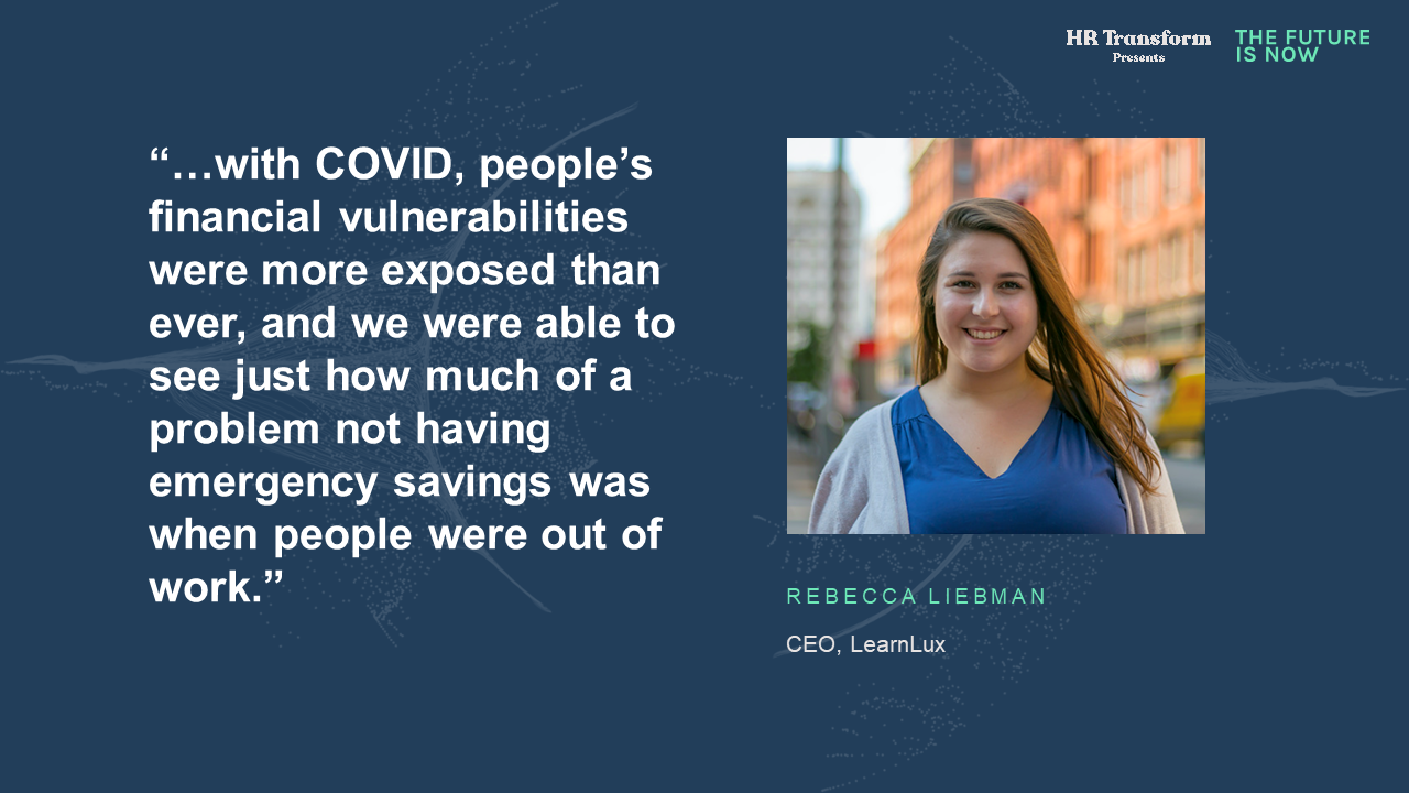 Rebecca Liebman CEO of LearnLux Financial Wellbeing quote card