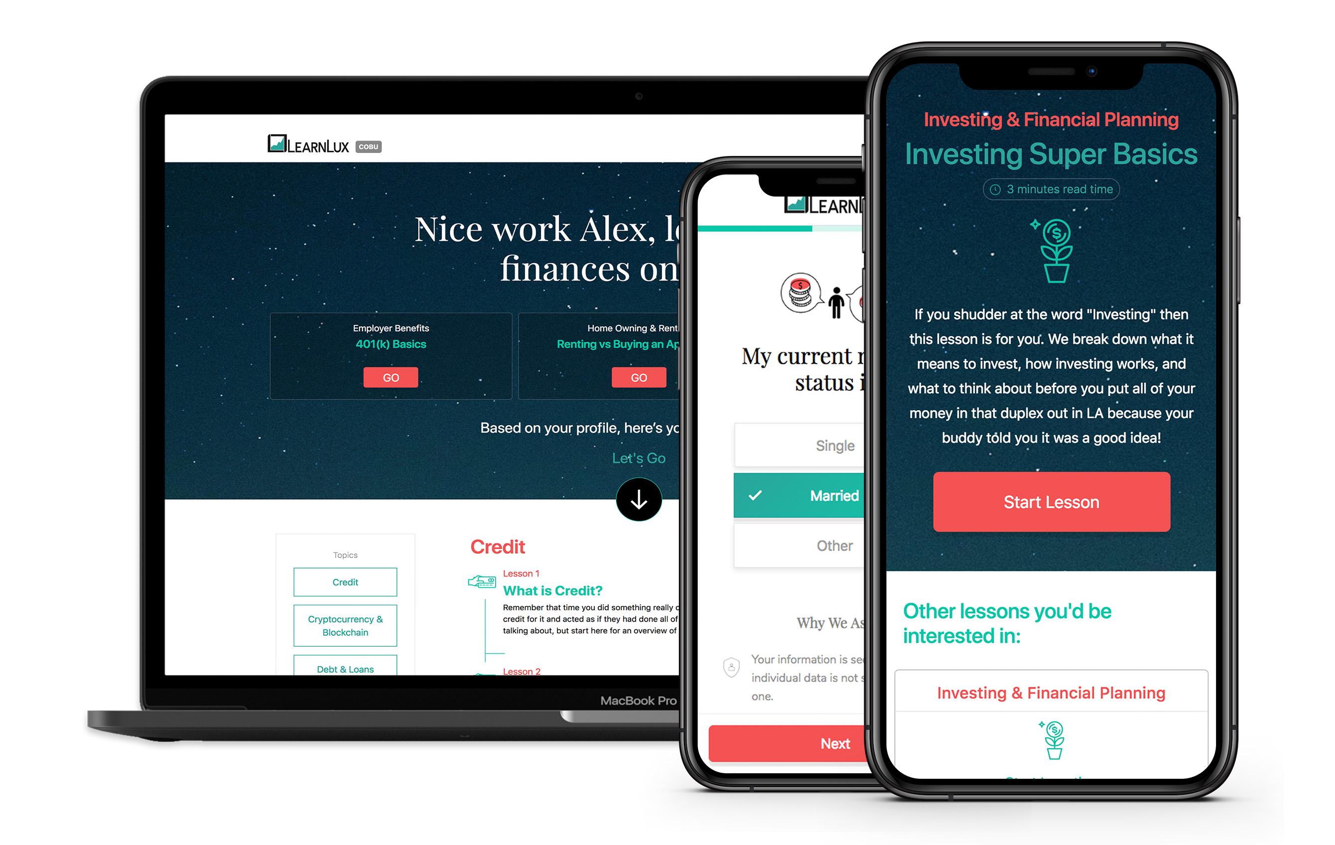 LearnLux Employer Portal Design