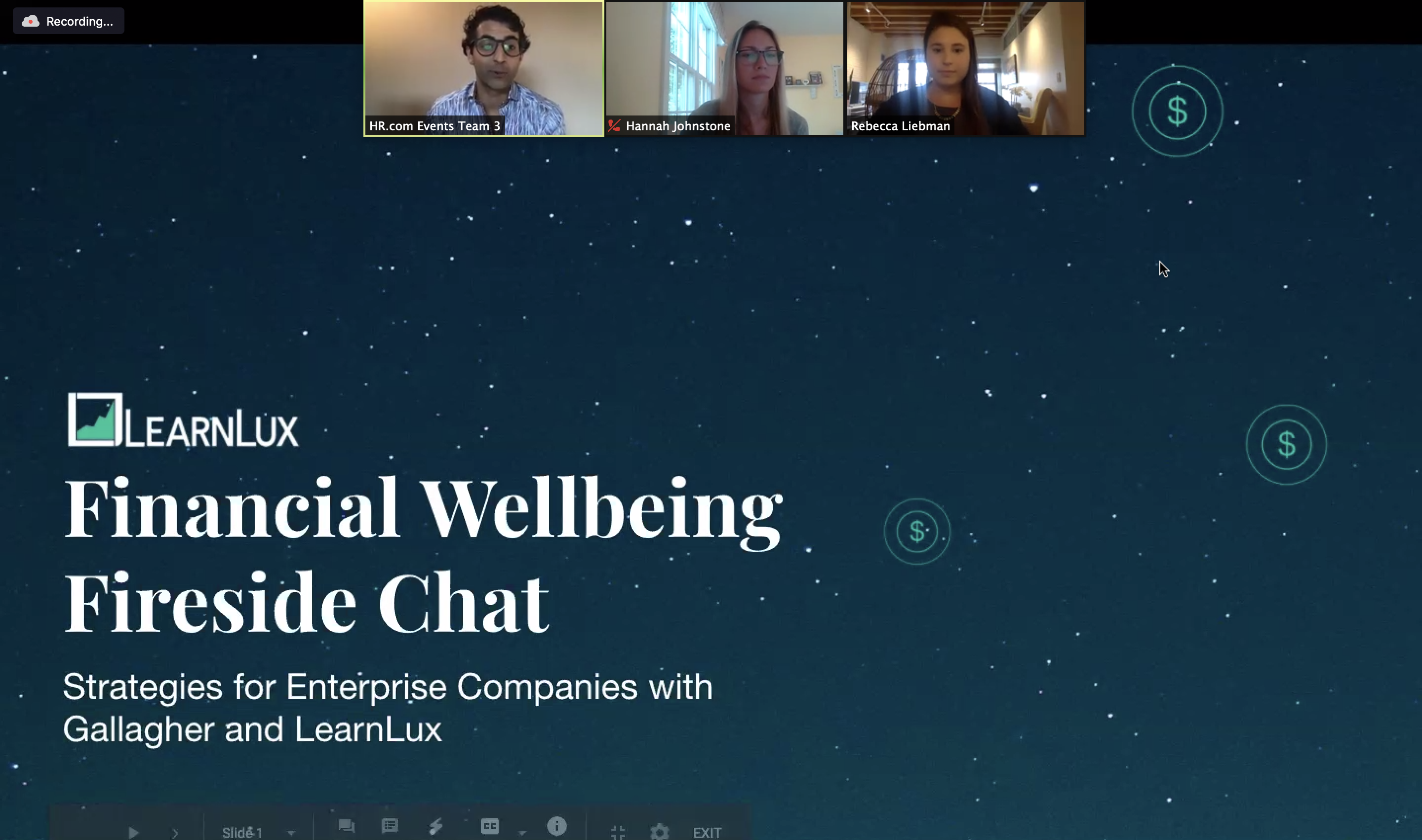 financial wellbeing fireside chat webinar